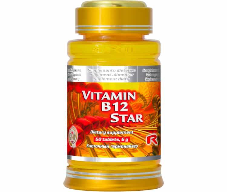 vitamin b12 star 60 kapslí