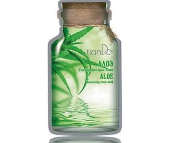 Hydratační krémová maska na obličej Aloe